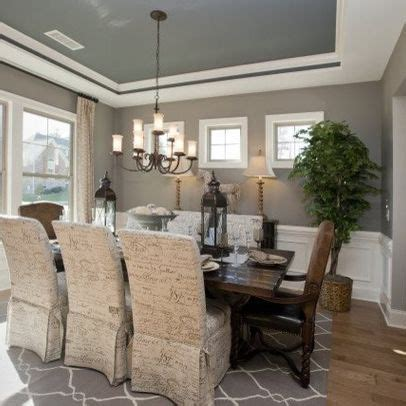 Dining Room Tray Ceiling Ideas - painted tray ceilings on
