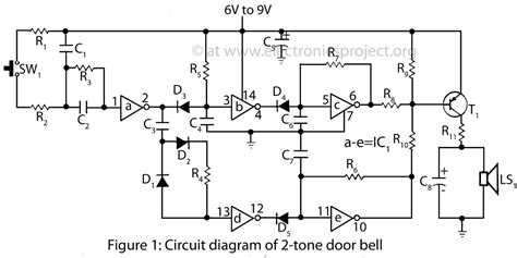 tone door bell electronics project