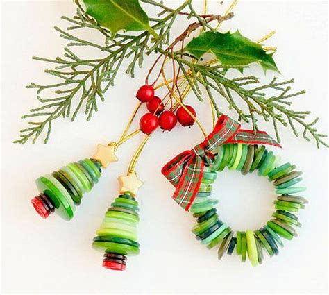 how to make button christmas ornaments winter christmas