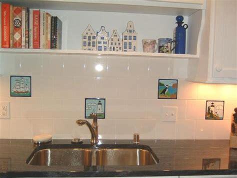nautical kitchen backsplash kitchen backsplash tile painted by besheer tile 1051