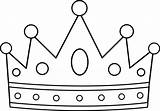 Crown Clip Outline Clipart Royal Coloring Advertisement sketch template