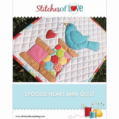 Quilt Heart Mini Spoolie Pattern Printed Patterns