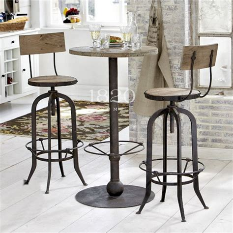 table et chaise bistrot country to do the retro rust iron bar chairs