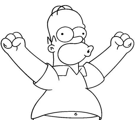 Homer Kleurplaat by Homer Free Simpsons Coloring Pages