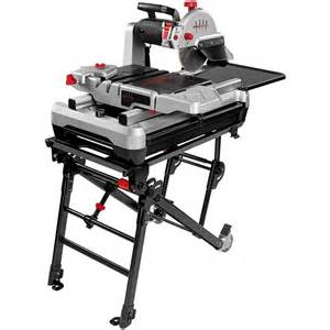 shop beast 10 in 2 4 hp wet slide tile saw with stand at