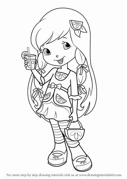 Strawberry Shortcake Lemon Coloring Meringue Draw Drawing