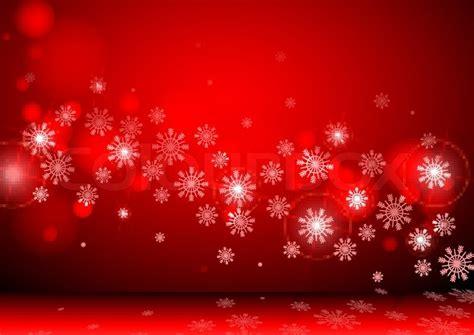 roter hintergrund mit schneeflocken vektorgrafik colourbox