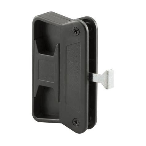 ideal security deluxe black door handle set with