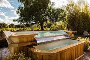 Piscine En Bois Hors Sol : piscine bois d bordement construction de piscine en ~ Dailycaller-alerts.com Idées de Décoration