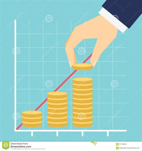 Growing Income Graph Vector Illustration Stock Vector ...