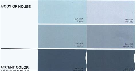 sherwin williams morning fog exterior color  house