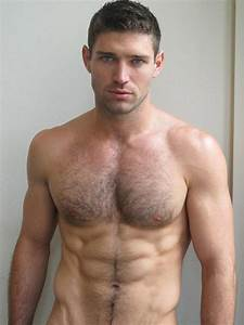 Shirtless Male Beefcake Hunk Beard Chest Hair Muscle Stud Photo Male Models Picture