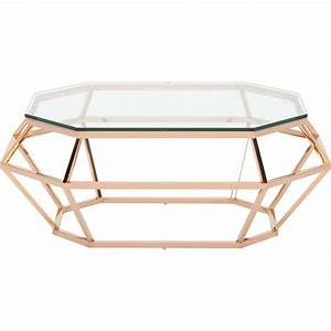 Table Basse Rose Gold : diamond rectangular coffee table by nuevo hgsx183 home and office furniture ~ Teatrodelosmanantiales.com Idées de Décoration