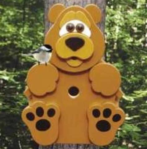 bear cub birdhouse woodworking plan idea bird