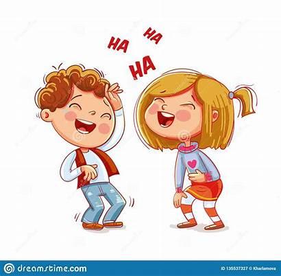 Laugh Divertido Beeldverhaalkarakter Lachen Grappig Kinderen Pret