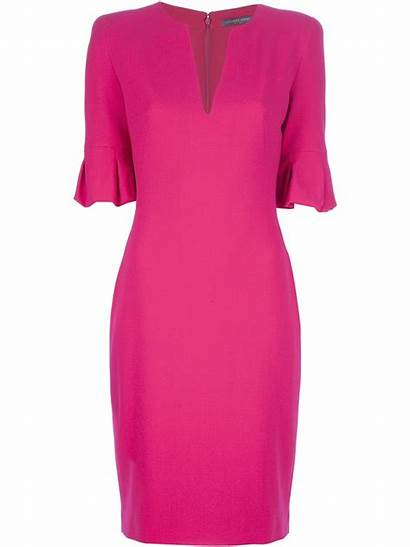 Pink Alexander Mcqueen Midi Wool Woollen Length
