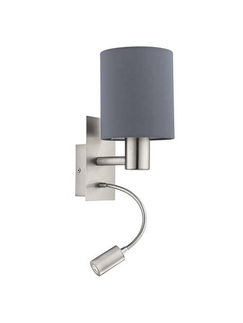Applique Moderno by Applique Moderno In Tessuto Grigio Con Led 1 Luce Glo
