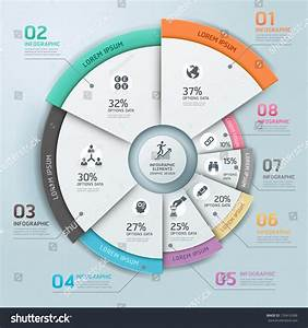 Modern Business Infographics Circle Origami Style Stock
