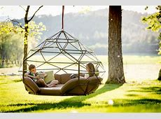 Suspended Zome Swinging Beds from Kodama Zones