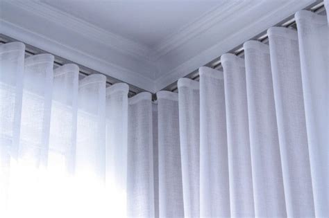 wave pleat curtains track ceiling mounted curtains