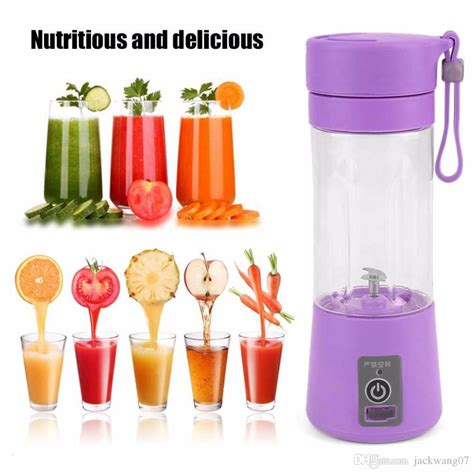 fruit portable juicer electric vegetable blender juice cup rechargeable extractor usb maker ice citrus crusher connector piece