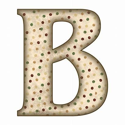Alphabet Scrapbook Letters Letter Granny Tan Dots