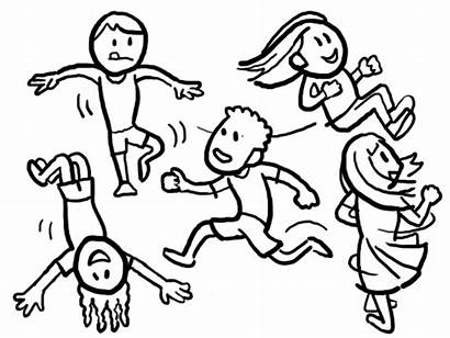Play Activity Elements Drawing Outdoor Run Jump