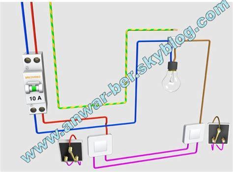 schema electrique 2 les 1 interrupteur montage 233 lectrique le va et vient شكرا على زيرتكم