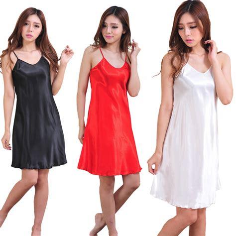 teddy nightgown babydoll satin dress robe sleepwear nightwear uk ebay
