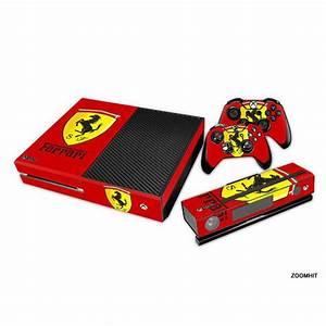 Xbox One Console Skin decal Sticker Ferrari Custom + 2 ...