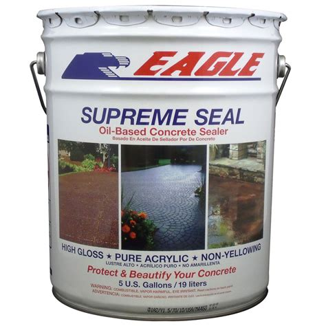 shop eagle 5 gallon clear high gloss concrete sealer at