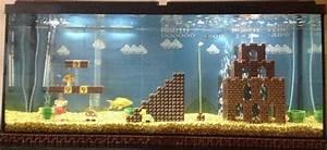 Idee Decoration Aquarium : un d cor d aquarium sur le th me de super mario bros semageek photos g33k pinterest ~ Melissatoandfro.com Idées de Décoration