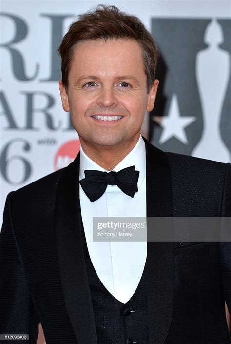 Declan Donnelly attends the BRIT Awards 2016 at The O2 ...