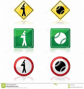 Traffic Warning Signs In The United States Cartoon Vector