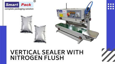 band sealer  nitrogen flushing nitrogen packing sealing machine youtube