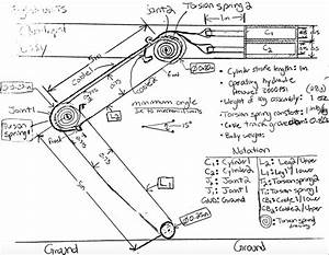 Solved  Draw A Free Body Diagram Of The Quadruped Leg Of A