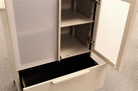 Haworth Lateral File Cabinet Dividers by Used Haworth 3 Drawer Lateral File Cabinet Glass Front