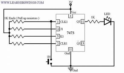 Circuit Switch Flip Flop Push Led Button