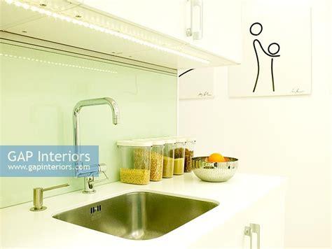 kitchen sinks trinidad and tobago gap interiors detail of modern kitchen sink with green
