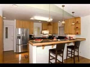 Kitchen design breakfast bar - YouTube