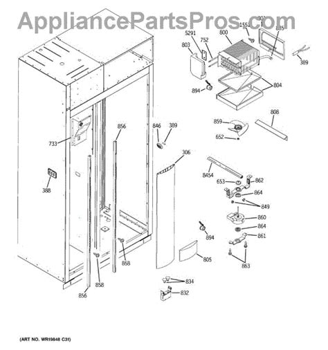 parts  ge zispdxbss freezer section parts appliancepartsproscom