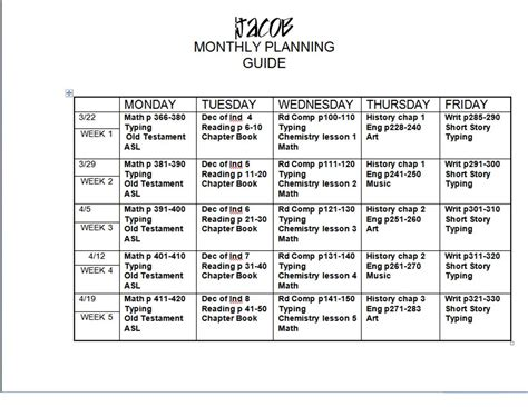 Design Lesson Plans by Free Weekly Lesson Plan Template And Resources