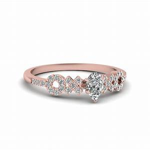 x o pave set diamond womens wedding ring in 14k rose gold With womens wedding ring set