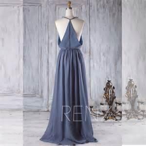 steel blue bridesmaid dresses 2017 v neck chiffon bridesmaid dress steel blue wedding