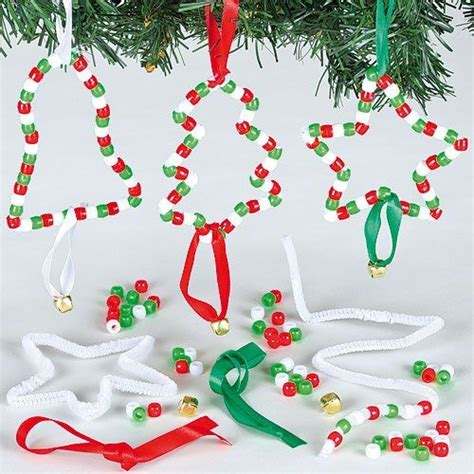 anhaenger bastelsets weihnachten mit perlen fuer kinder zum