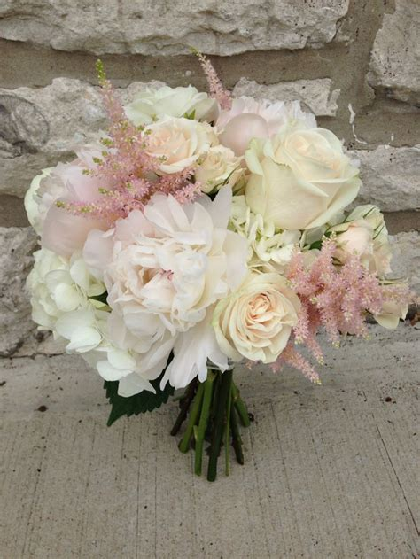 peonies astilbe roses and hydrangeas bridal bouquet www