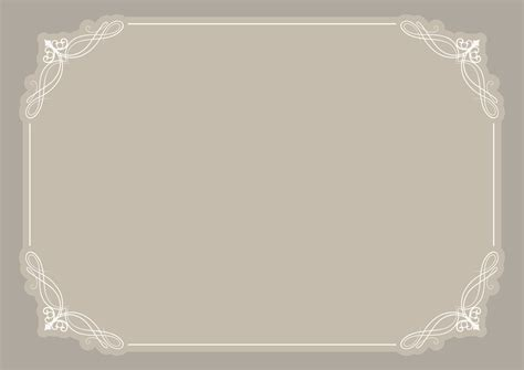 decorative blank certificate background vector