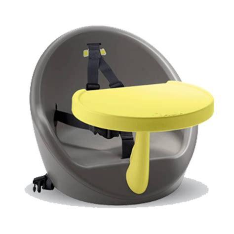 rehausseur de chaise beaba beaba réhausseur de table babyboost gris jaune
