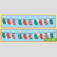 * New * Counting In 2s On Socks Number Line Display Banner  Counting In 2s