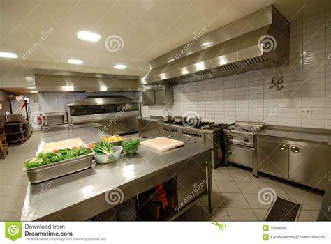 Modern Kitchen In Restaurant` Stock Photo-image Of Food